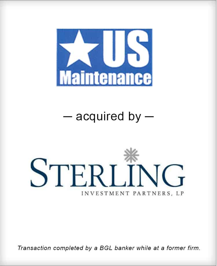 Image for US Maintenance Acquired by Sterling Investment Partners Transaction