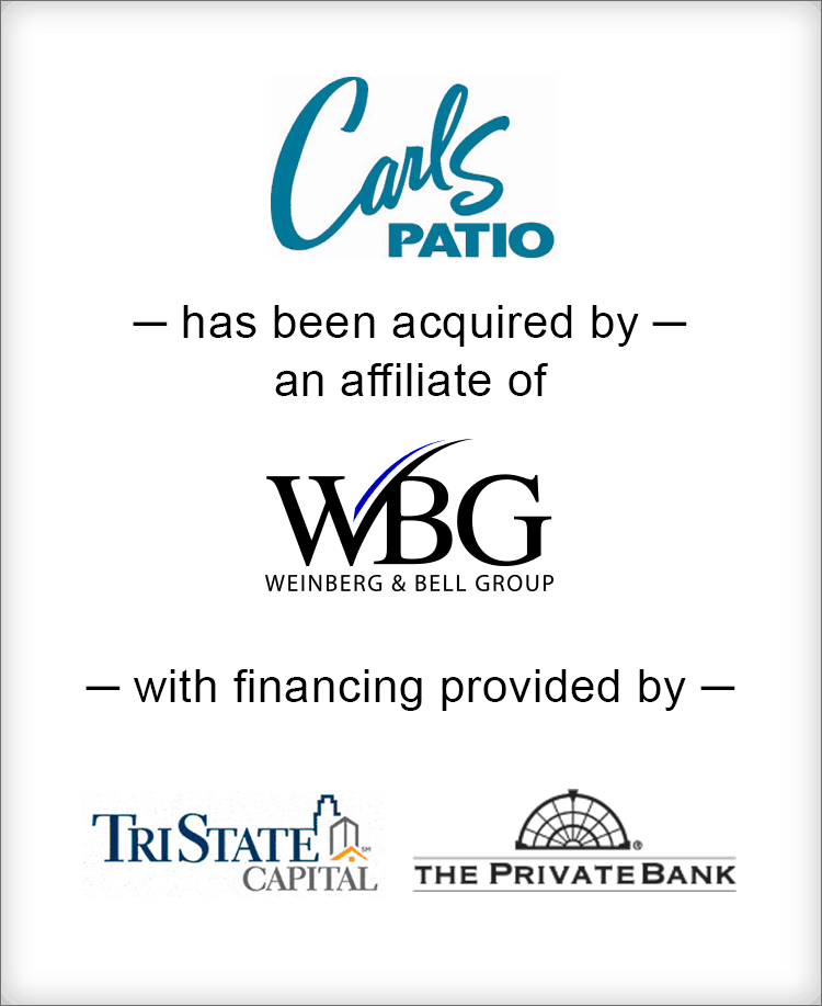 Image for BGL Completes Capital Raise for Weinberg & Bell Group's Acquisition of Carl's Patio, Inc. Press Release