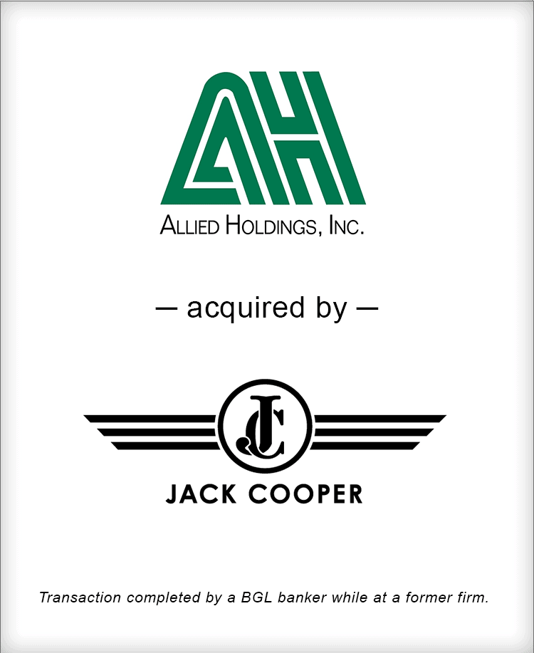 Image for Allied Holdings Acquired by Jack Cooper Transaction