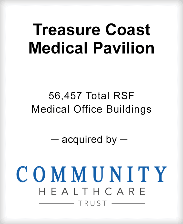 Image for BGL Advises Treasure Coast Medical Pavilion Transaction