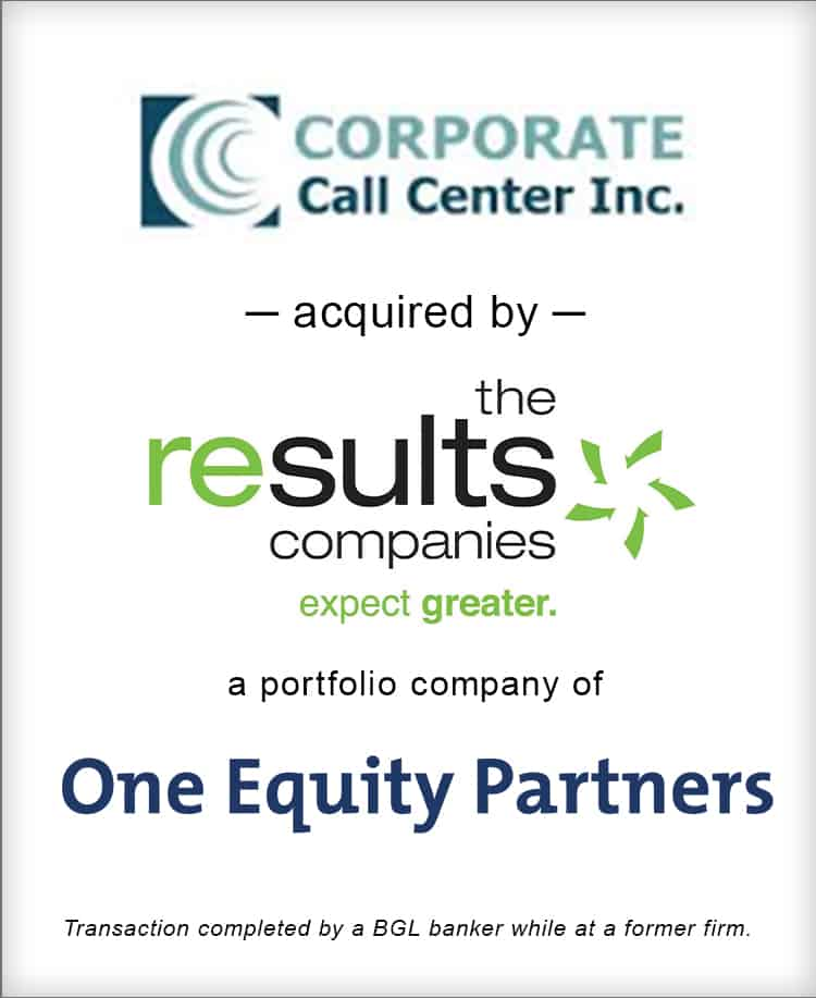 Image for Corporate Call Center Inc. Acquired by The Results Companies Transaction