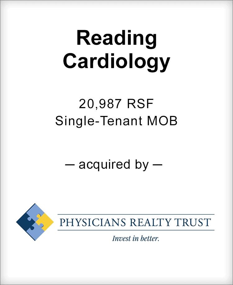 Image for BGL Advises Reading Cardiology Transaction