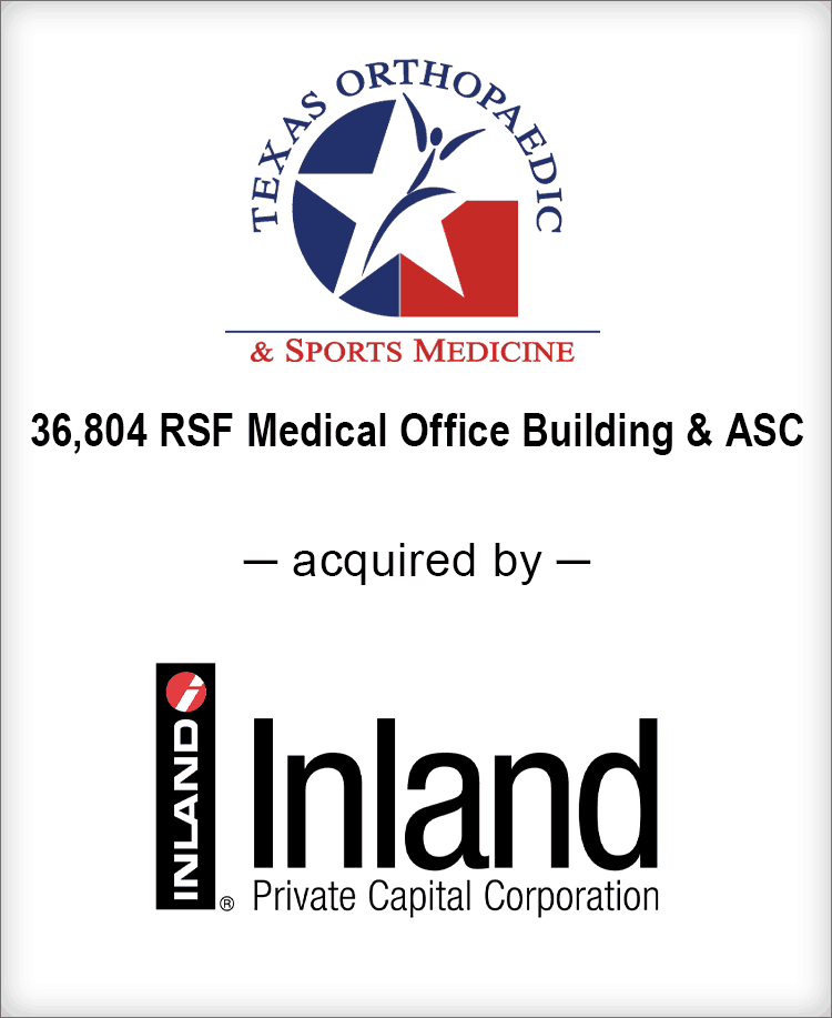 Image for BGL Real Estate Partners Announces the Sale of Texas Orthopaedic & Sports Medicine Center Press Release