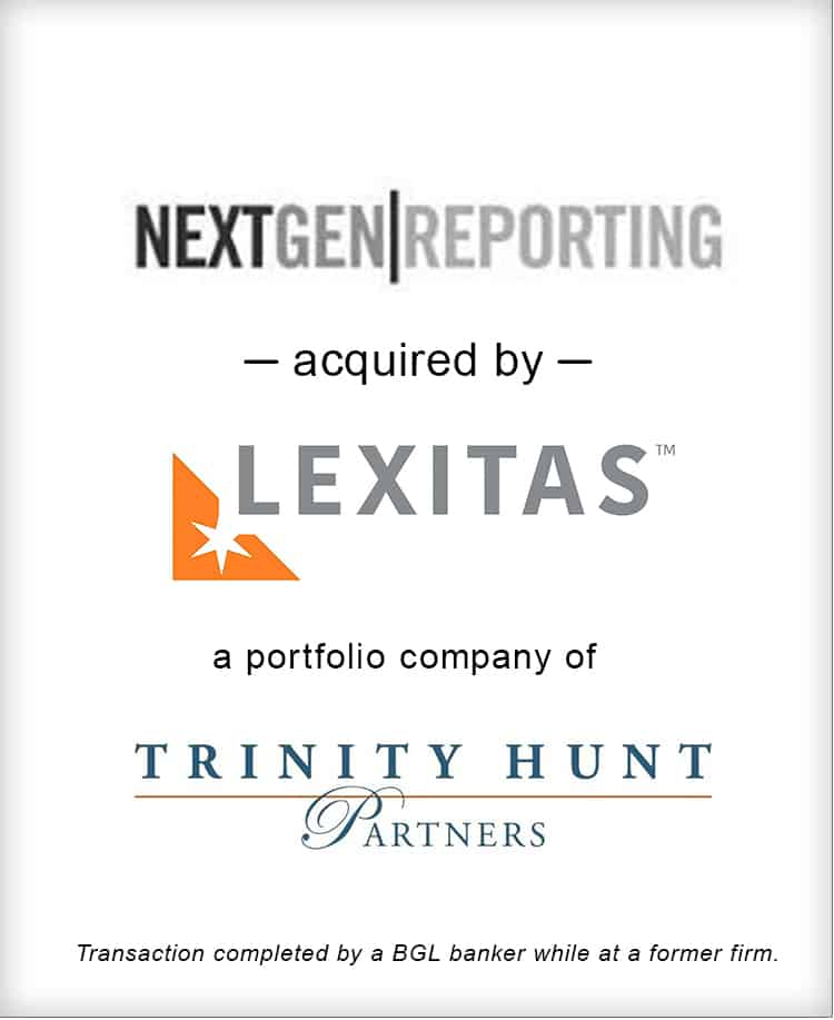 Image for NextGen Reporting Acquired by Lexitas Transaction