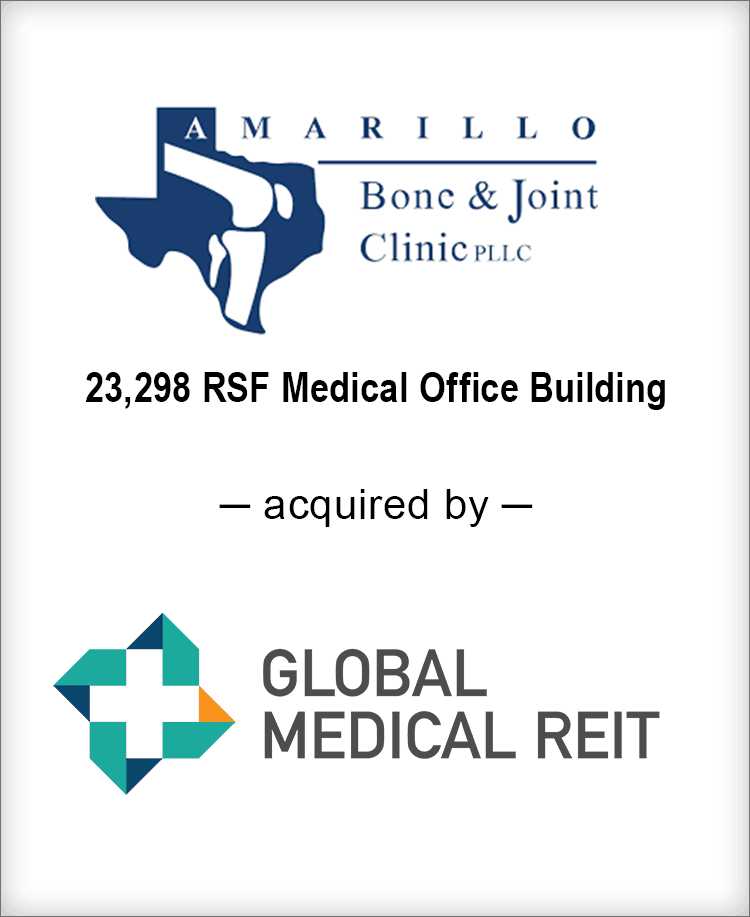 Image for BGL Real Estate Partners Announces the Sale of Amarillo Bone & Joint Clinic Press Release