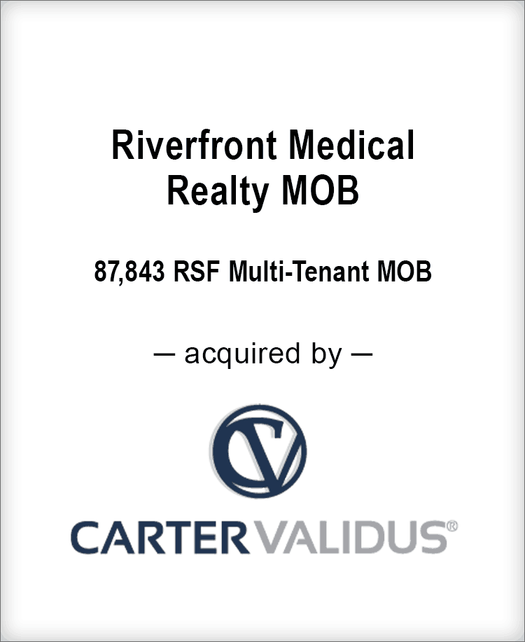 Image for BGL Real Estate Partners Announces the Sale of Riverfront Medical Realty LLC Medical Office Building Press Release