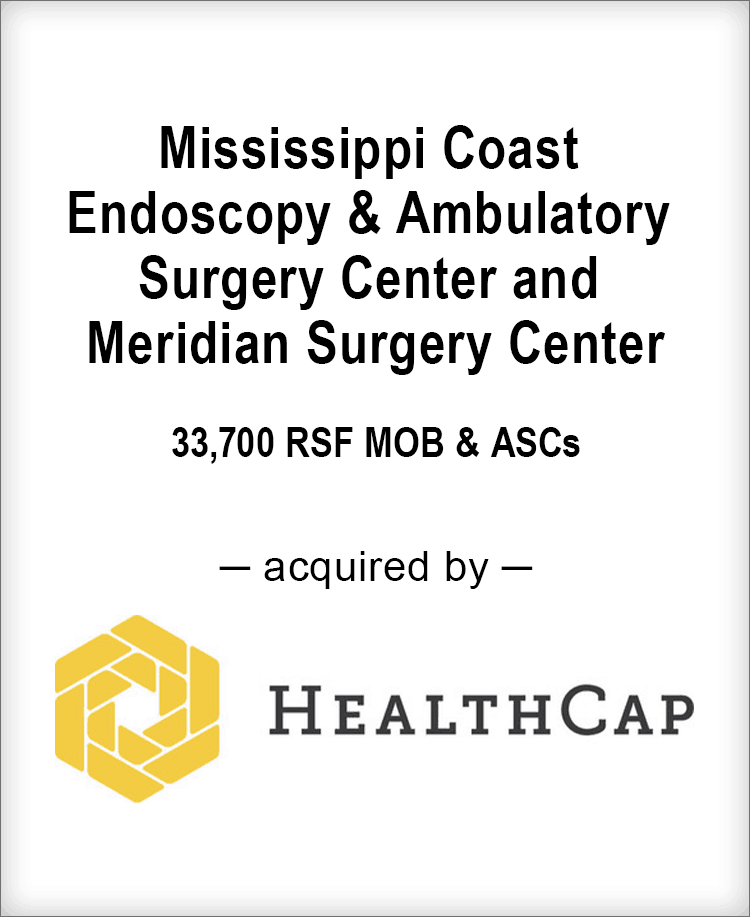 Image for BGL Real Estate Partners Announces the Sale of Mississippi Coast Endoscopy & Ambulatory Surgery Center and Meridian Surgery Center Press Release