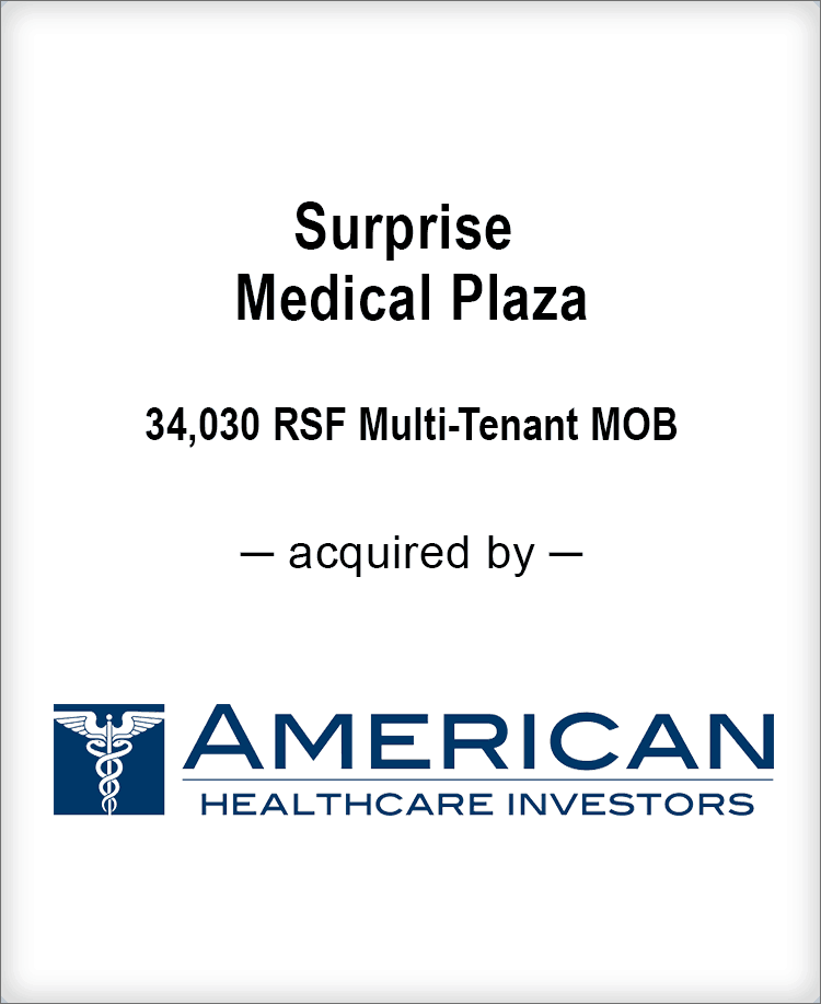 Image for BGL Real Estate Partners Announces the Sale of Surprise Medical Plaza Press Release