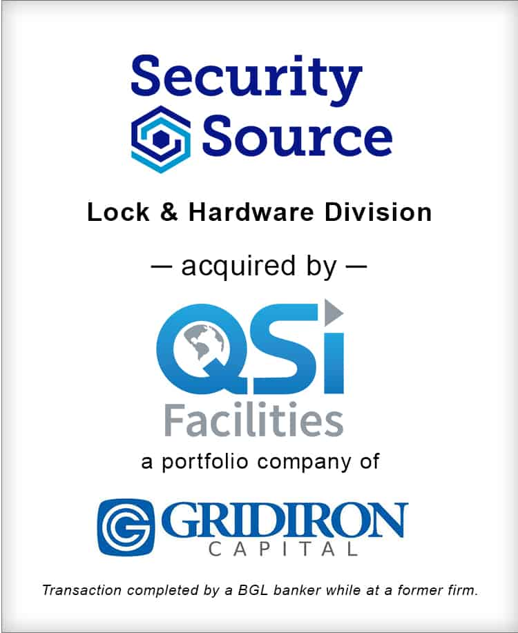 Image for Security Source Lock & Hardware Division Acquired by QSI Facilities Transaction