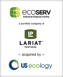 Image for BGL Announces the Sale of Ecoserv Industrial Disposal to U.S. Ecology Press Release