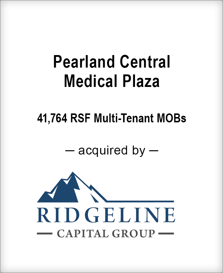 Image for BGL Advises Pearland Central Medical Plaza Transaction