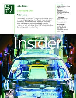 Image for BGL Industrials Insider – Technology Fuels M&A in Automotive Research
