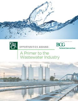 Image for Brown Gibbons Lang & Company – Wastewater Seeing Growth, Capital Inflows Research