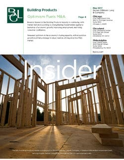 Image for BGL Building Products Insider – Optimism Fuels M&A Research