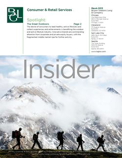 Image for BGL Consumer & Retail Services Insider – Buyers Take to the Great Outdoors Research