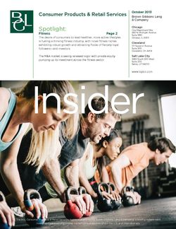 Image for Consumer Products & Retail Services Insider – Sweat Equity: Fitness Attracts Investors and Capital Research