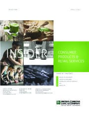 Image for BGL Consumer Products & Retail Services Insider – Passionate Consumers Buoy M&A Growth Research
