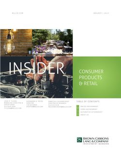 Image for BGL Consumer Products & Retail Insider – Portfolio Honing Ignites M&A Research