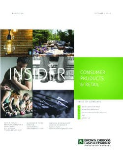 Image for BGL Consumer Products & Retail Insider – Growth-Seeking Buyers Keep the M&A Engine Running Research