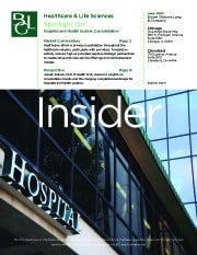 Image for BGL Healthcare & Life Sciences Insider – Consolidation within the Healthcare Provider Industry Research