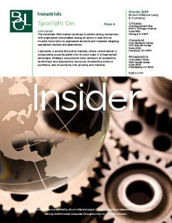 Image for BGL Industrials Insider – Lubricants Greases M&A in Industrial Consumables Research