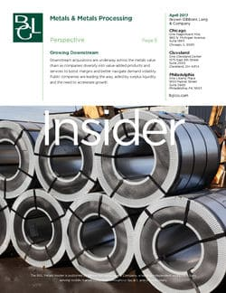 Image for BGL Metals Insider – Downstream Diversification Boosts Metals M&A Research