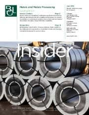 Image for BGL Metals Insider – Margin in Manufacturing for Service Centers Research