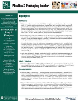 Image for BGL Plastics & Packaging Insider – September 2011 Research