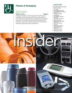 Image for BGL Plastics & Packaging Insider – October 2012 Research