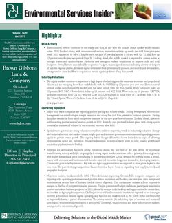 Image for BGL Environmental Services Insider – Q1 2011: Spotlight on Oil Collections and Re-refining Research