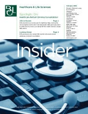 Image for BGL Healthcare Insider – Healthcare Reform Driving Consolidation Research