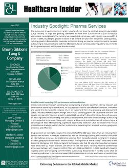 Image for BGL Healthcare Insider – Spotlight on Pharma Services Research