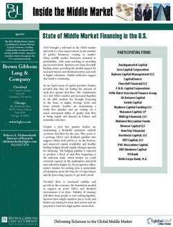 Image for BGL Special Report – The Middle Market: The Waiting Game Research