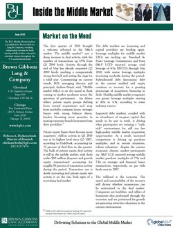 Image for BGL Inside the Middle Market – June 2010 Research