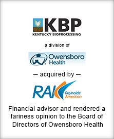 Image for BGL Advises Owensboro Health in its Divestiture of Kentucky BioProcessing Press Release