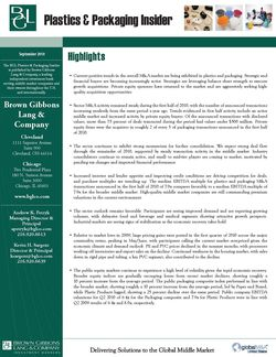 Image for BGL Plastics & Packaging – September 2010 Research