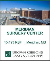Image for BGL Real Estate Partners Announces the Sale of Meridian Surgery Center Press Release