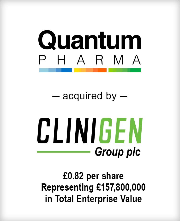 Image for BGL Announces the Sale of Quantum Pharma plc to Clinigen Group plc Press Release