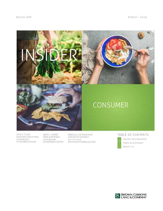Image for BGL Consumer Insider – Food Distributors Hungry for Acquisitions Research
