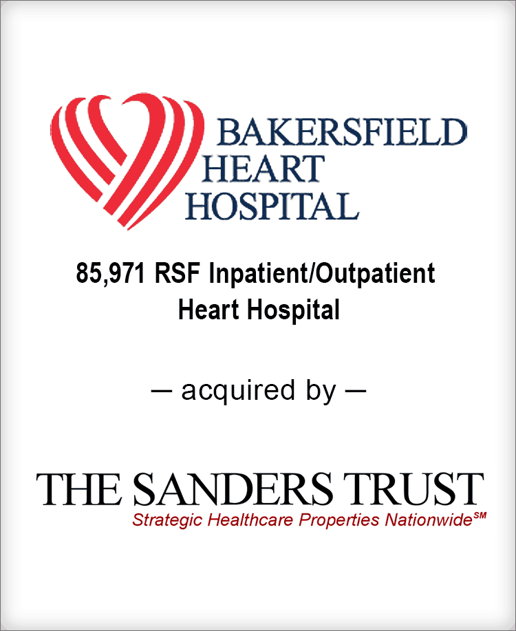 Image for BGL Announces the Real Estate Sale of Bakersfield Heart Hospital Press Release