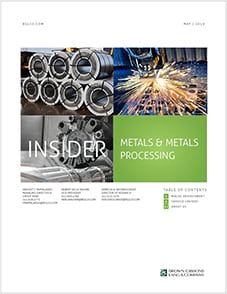 Image for BGL Metals Insider – Service Centers Add Value through M&A Research