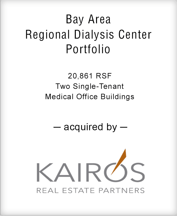 Image for BGL Announces the Real Estate Sale of Bay Area Regional Dialysis Center Portfolio Press Release