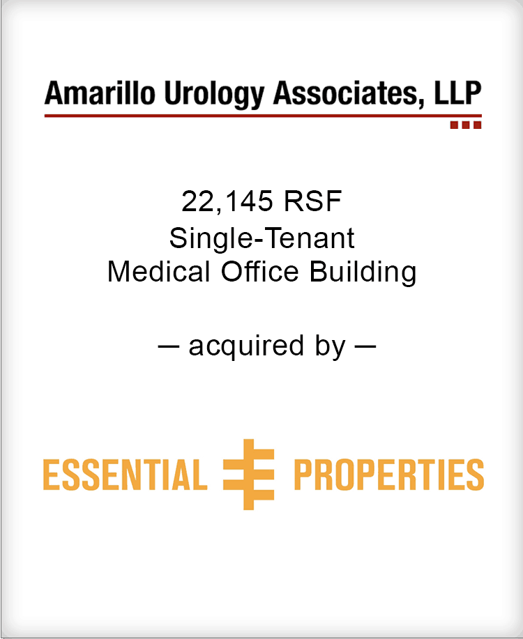 Image for BGL Announces the Real Estate Sale of Amarillo Urology Associates Press Release