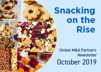 Image for Global M&A Partners Food & Beverage Newsletter – Snacking on the Rise Research