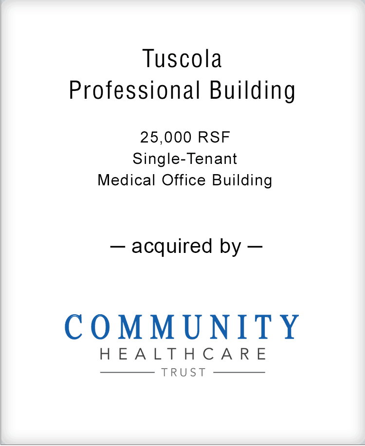 Image for BGL Announces the Real Estate Sale of the Tuscola Professional Building Press Release