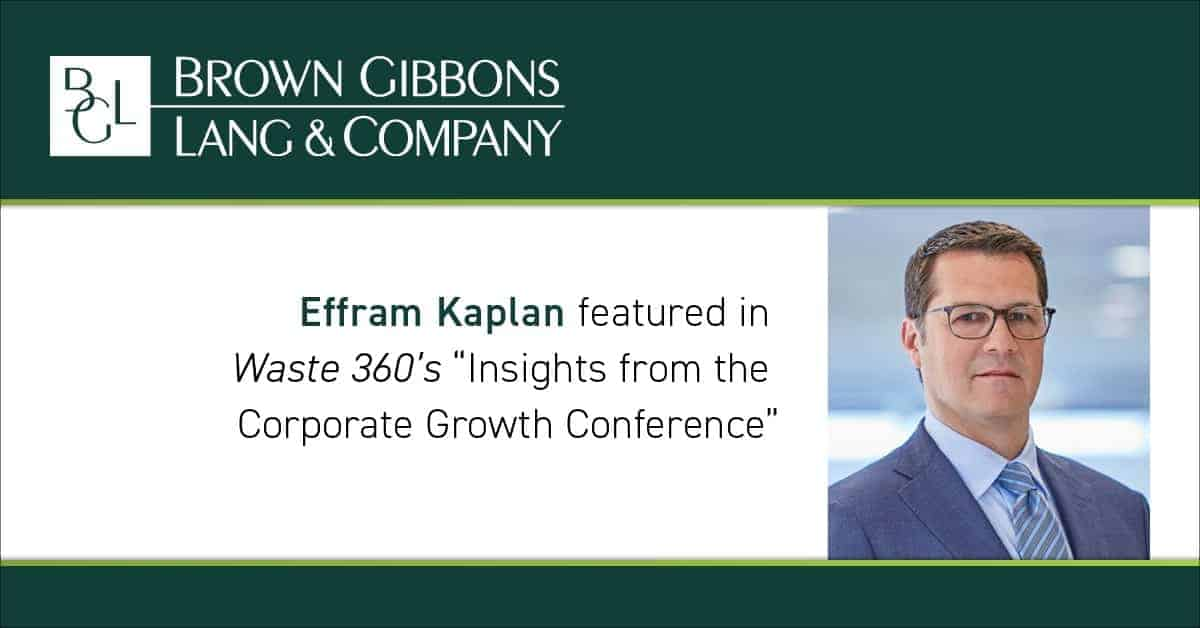 "Image for Effram E. Kaplan moderates panel session at Corporate Growth Conference on ""Understanding Business Valuation"" Media Coverage"