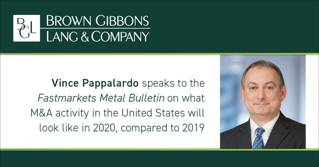 Image for Vince Pappalardo quoted in article from Fastmarkets Metal Bulletin Media Coverage