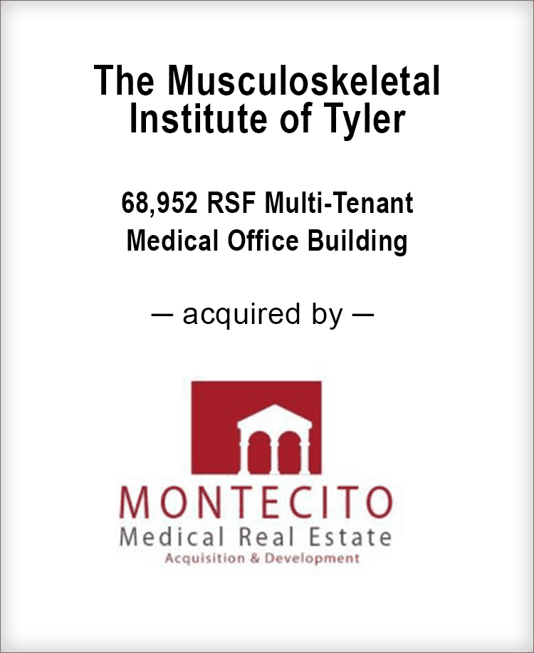 Image for BGL Announces the Real Estate Sale of the Musculoskeletal Institute of Tyler Press Release