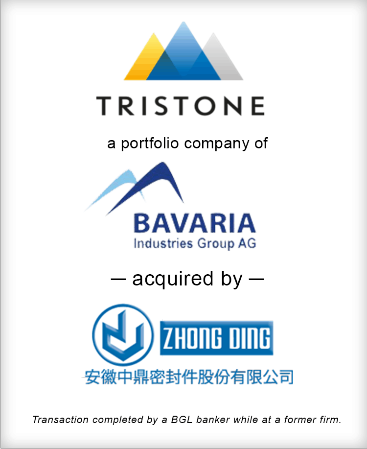 Image for Tristone Flowtech Acquired by Anhui Zhongding Transaction