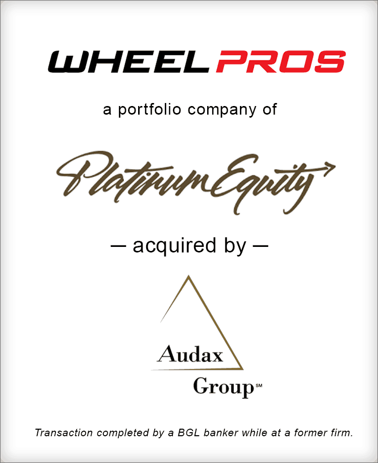 Image for Wheel Pros Inc. Acquired by Audax Group Transaction